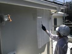 横浜市 戸建て住宅 塗り替え リフォーム 外壁 下塗り