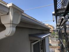軒樋 塗装 施工前 横浜市 戸建て 港南区 リフォーム