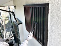 面格子塗装 シリコン 上塗り 栄区 戸建住宅