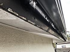 住宅 塗り替え 塗膜 剥れ 劣化 破風塗装 施工前 横浜市