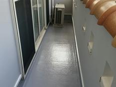 横浜市磯子区K様邸ベランダFRP防水保護塗装施工後