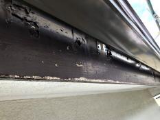 破風塗装 横浜市 栄区 施工前 塗膜劣化 剥れ