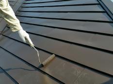 遮熱塗装 上塗り2回目 屋根