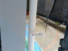 横浜市磯子区K様邸雨樋塗り替え上塗り2回目施工中