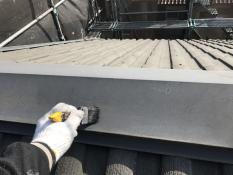 戸建住宅 リフォーム 清掃 屋根塗装 棟板金塗装