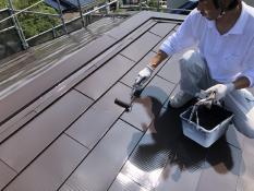 塗り替え 屋根 遮熱塗料 上塗り2回目 ご近所 評判 おすすめ