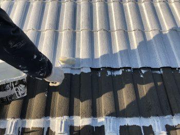 横浜市 屋根塗装 瓦 乾式 コンクリート シーラー下塗り モニエル