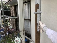 住宅 リフォーム 玄関鉄柱 錆止め塗装