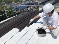 横浜市 屋根塗装 人気 口コミ 遮熱 サーモアイ 日本ペイント 上塗り