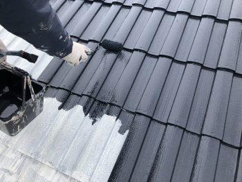 遮熱塗装 上塗り1回目 横浜市 人気 安い 屋根塗装