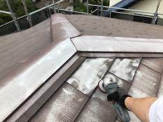屋根塗装 ケレン 電動工具 塗膜 横浜市