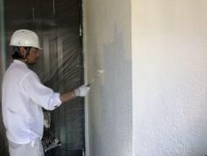 横浜市 外壁塗装 上塗り1回目 日本ペイント シリコン 口コミ 安い 人気