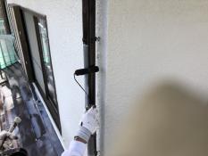 竪樋塗装 シリコン 上塗り1回目 防汚 長持ち 防カビ