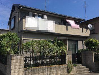 外壁塗装 施工前 横浜市 瀬谷区 戸建 塗り替え リフォーム