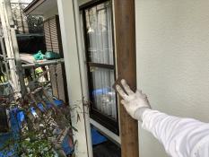 横浜市 栄区 玄関 リフォーム 鉄柱塗装 ケレン