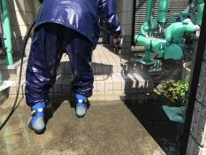 横浜市 塗り替え リフォーム 瀬谷区 玄関 高圧洗浄