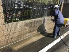 住宅塗装 塀塗装 藻 洗浄 汚れ