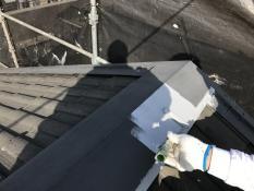 横浜市 住宅塗装 錆止め塗装 屋根 棟板金