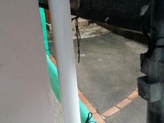 横浜市磯子区K様邸雨樋塗り替え前