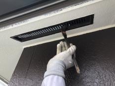 戸建住宅 塗り替えリフォーム 上塗り1回目