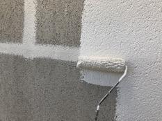横浜市 塗装工事 上塗り1回目 外壁