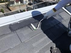住宅塗り替え 屋根 下塗りl