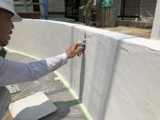 塗り替え 模様付け 塀
