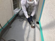 研磨 FRP防水保護塗装 横浜市