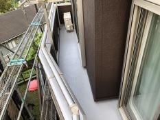 ベランダ塗装 施工後 FRP防水保護塗装