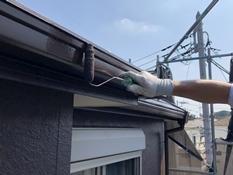 樋塗装 日本ペイント シリコン 上塗り2回目