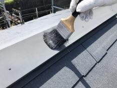 戸建 塗り替え 清掃 棟板金