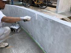 横浜市 塗り替え 塀 下塗り