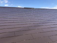 屋根塗装 棟板金塗装 遮熱シリコン 施工後