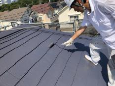 遮熱塗料 屋根塗装 上塗り2回目