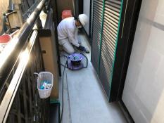 FRP防水保護塗装 研磨