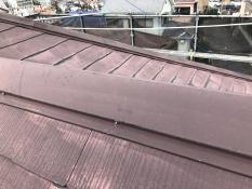 屋根塗装 棟板金 施工前