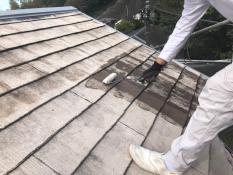 屋根塗り替え 下塗り1回目