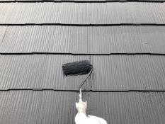 屋根 遮熱塗装 上塗り2回目