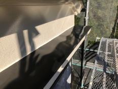 霧除け庇 塗装 施工後