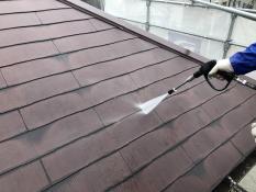 高圧洗浄 屋根塗装