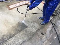 高圧洗浄 駐車場 塗り替えリフォーム