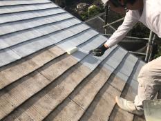 下塗り2回目 逗子市 屋根塗装
