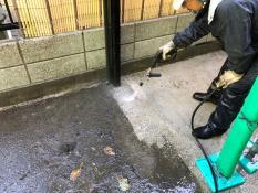 逗子市 住宅塗装 土間高圧洗浄