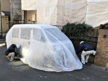 養生シート 車用 外壁塗装
