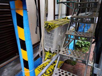室外機 養生カバー 塗装工事