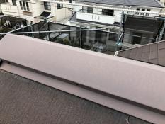 屋根 棟板金塗装 施工前