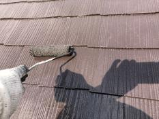 屋根遮熱塗装 上塗り2回目