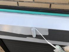 錆止め塗装 シャッターボックス