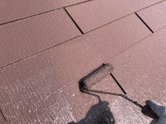 屋根 遮熱 上塗り2回目