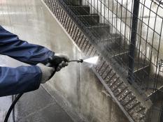 擁壁塗り替え 高圧洗浄